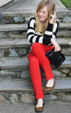 stripes, red, leopard