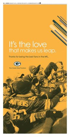 Packers thank their fans.