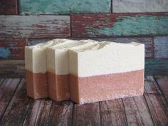 Sea Salt Rose Geranium Soap Exfoliating Soap by ArtisanBathandBody