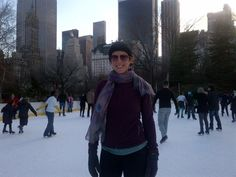 Sarah McLachlan ice skating in Central Park