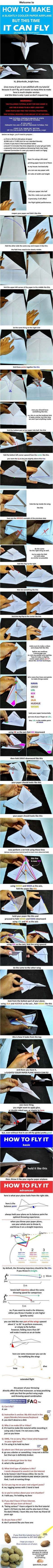 I heard you like a paper plane that can actually fly - DIY paper & origami ideas