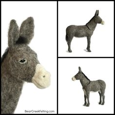 Needle Felted Donkey by Teresa Perleberg