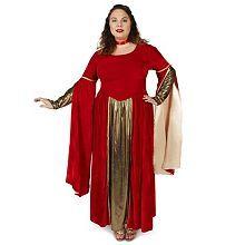 Adult Plus Red Velveteen Queen of Hearts Costume