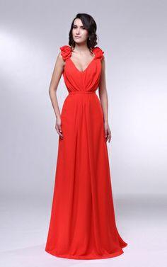 V-Neck Floor Length Chiffon Prom Dress 421ee8d67f5a