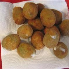 Stuffed olives....Dang I bet these are tasty.