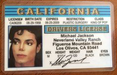 Michael Jackson Faux 'Drivers License'