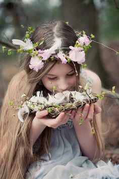 All she needs are gossamer wings...woodland fairy
