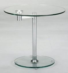 8090 Round Glass Lamp Table