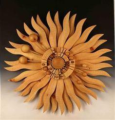 #FerdinandoCodognotto Carved Wooden Sun Sculpture www.FerdinandoCodognotto.com