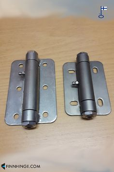 Hinges with ball bearing and grease fitting, made of stainless steel AISI Learn more about them and other hardware options on our website! Our hinges are made in Finland and can be delivered worldwide. Stainless Steel Hinges, Industrial Hardware, Grease, Can Opener, Finland, Doors, Canning, Website, How To Make