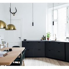 Some parts of the remodel are easier than expected as IKEA kitchen design ideas include those DIY steps we are all used to from the. Ikea Kitchen Design, Kitchen Layout, Interior Design Kitchen, Kitchen Designs, Kitchen Pantry Cabinets, Kitchen Countertops, Black Kitchens, Cool Kitchens, Home Design