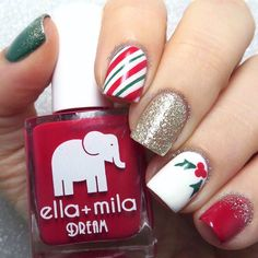 Details about Wrapping Paper Stencils for Nails, Candy Cane, Christmas Nail Stickers, Nail Art - Mary - Christmas Nail Stickers, Xmas Nail Art, Cute Christmas Nails, Holiday Nail Art, Xmas Nails, New Nail Art, Diy Nails, Nail Art Designs 2016, Christmas Nail Art Designs