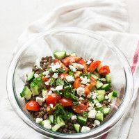 Mediterranean Lentil Salad with Grape-Mint Vinaigrette June 1, 2015 ~ by Min~ 21 Comments