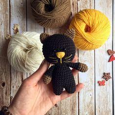 Plush crochet cat toy for baby/Baby shower gift/Amigurumi