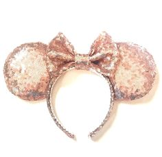 8376241f566 Rose Gold Ears Sequin Ears Minnie Ears Rose by ExtraMagicHours