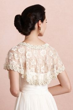 gold First Light Capelet | BHLDN