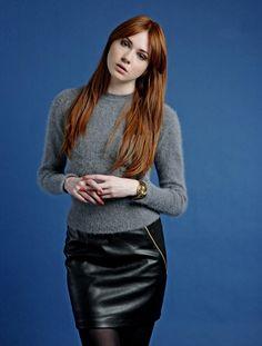 Karen Gillan Guardian photoshoot - Leather Celebrities