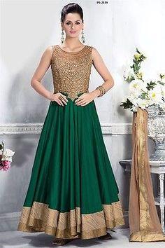 Deepawali Collection Dress Indian Long Kameez Bridal Wedding Plus Size PS 2139 | eBay