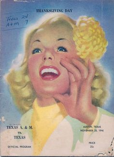 1946 Game Program between Texas A & M Aggies vs. Texas Longhorns