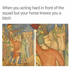 Post with 106 votes and 3994 views. Tagged with funny, art, memes, awesome, dump; Shared by Art Memes for Mother's Day Renaissance Memes, Medieval Memes, Medieval Reactions, Medieval Art, History Medieval, Memes Humor, Funny Memes, Funny Gifs, Funny Videos