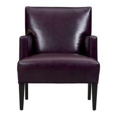 Tux Leather Chair $599 #cratebarrel *I'm digging the eggplant color, and the sale price (reg. 1199)!