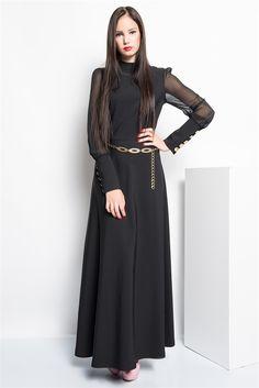 İRONİ KOLLARI ŞİFON DÜĞMELİ UZUN ELBİSE (5823-891 SIYAH) 99,90 TL(KDV Dahil) #şifonelbise #uzun #giyim #şifon #elbise #bayan #giyim #woman #siyah #balck #fashion #siyah #hardal #saks #fusya #colors #kemerlielbise #moda #modasenınlevar #trend #allmissecom #allmissegiyim #turkey #istanbul  http://allmisse.com/ironi-kollari-sifon-dugmeli-uzun-elbise-18497