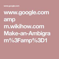 www.google.com amp m.wikihow.com Make-an-Ambigram%3Famp%3D1