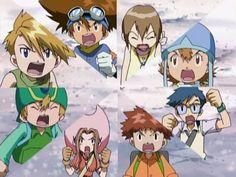 Digimon Adventure (: Tai, Kari, Sora, Joe, Izzy, Mimi, T.K., and Matt