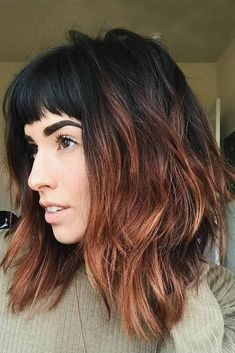A long bob with bangs is the best way to upgrade your medium length hair. The thing is that long bobs seem to be in fashion for ages now.