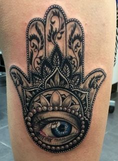 Twitter Pinterest Gmail Looking for a tattoo design that has a spiritual connection and significant deep meanings? You may be the ideal candidate for the Hamsa tattoo. The basic outline of this tattoo design is the hand and five fingers with an eye in the center. The eye is symbolic of the all-knowing, and has …