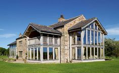 Floor-to-ceiling glazing on a converted barn