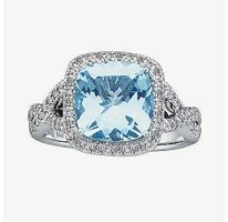 Sam's Club Aqua Marine and Diamond Ring...I need it back, I search for it all the time.  I'd buy another if I can find one.  I'm checking Pawn shops now.  Sam's doesn't carry it anymore.