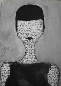 black and white art Mixed Media Collage, Collage Art, Collages, Black And White Face, Black And White Artwork, Illustration Art, Illustrations, Arte Popular, Art Abstrait