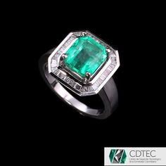 RRV $10949 - 18ct W.G, 2.78ct Colombian Emerald & Diamond Dress Ring