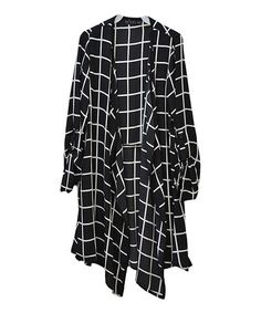 Love this Black Windowpane Drape Jacket on #zulily! #zulilyfinds