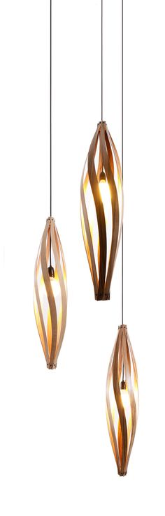 lampes suspendues, bois, design