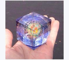 Another Justine Carter x Hefe collab. Fucking trippy carved glass cube