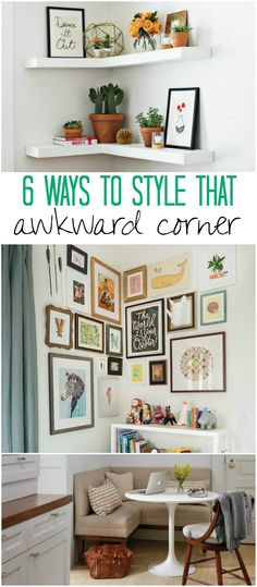 6 Clever Ideas: How to Style Awkward Corners In Your Home - Creative Juice
