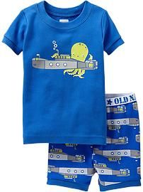 Octopus-Submarine PJ Sets for Baby