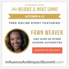THE INFLUENCE & IMPACT SUMMIT is now LIVE! Sign up and listen to 20 experts on leading authorities about how to maximize your influence and impact! You won't want to miss this lineup!