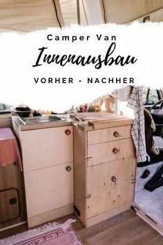 Elma, der Innenausbau: Vorher - Nachher — luna lene Vw T3 Westfalia, Vw Bus, Van Life, Storage Chest, Road Trip, Transporter, Live Free, Freedom, Vans