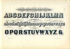 Ornamental Penmanship Concave Letters Engraving