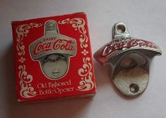 Vintage COCA COLA Wall Mount Bottle Opener With Box