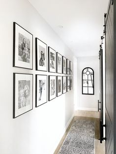 White Photo Frames, Black And White Photo Wall, Family Photo Frames, Family Wall, Photo Frames On Wall, Family Photos On Wall, Family Photo Walls, Picture Walls, Black And White Frames