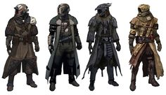 """The Yulji Brothers"", Mercenary Group.  Home world: Trok (From left to right) Jenta, Kolta, Hemder, Phylip"