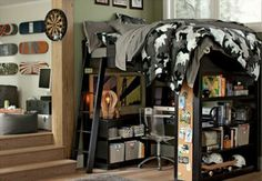 Cool Trendy Army Look for Youth Male Bedroom Design