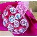 Diaper bouquet.   Floristería en Barcelona - Envío de Flores a Domicilio - España  www.justflowers-bcn.com