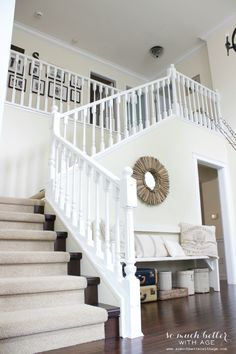 Canadian Bloggers Home Tour. White StairsWhite BanisterPainted ...