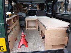 Defender camper interior - Rafiki on Tour - Discover the world Land Rover Defender Camping, Defender Camper, Landrover Defender, Landrover Camper, Electric Underfloor Heating, Fold Up Beds, Camper Beds, Truck Bed Camping, Expedition Truck