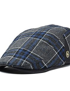 Men+England+Vintage+Casual+Tweed+Plaid+Wool+Beret +Casquette+Hat+–+USD+ +12.99 aadb1c720f6d